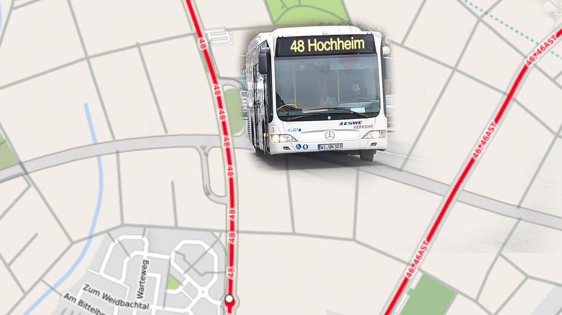 Buslinie 48 Richtung Hochheim