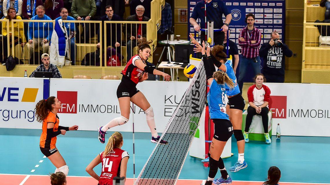 Schwarzer Samstag für Wiesbadens Volleyballdamen