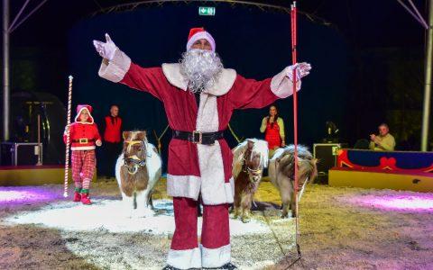 Manege frei für den Wiesbadener Weihnachtscirkus in Wiesbaden Biebrich. ©2017 Volker Watschounek