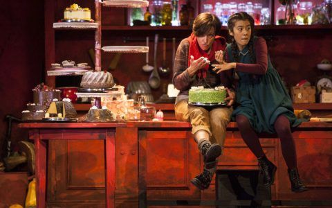 Franzisko Gottwoald, und Stella An in Hänsel und Gretel im Hessischen Staatstheater Wiesbaden auf der Bühne. ©2017 Sven-Helge Czichy