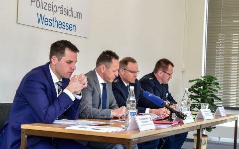 Bekanntgabe der Kriminastatistik im Polizeipräsidium Westhessen. ©2018