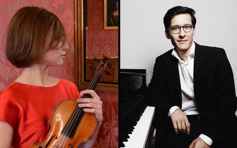 Die ukrainische Violinistin Elizaveta Fediukova und der in Usbekistan geborene Pianist Nuron Mukumi zu Gast in Wiesbaden. ©2018 Mozart-Gesellschaft