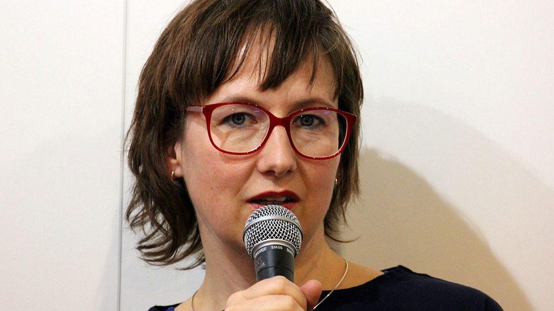 Verena Boos auf der Frankfurter Buchmesse 2017 ©2018 Heike Huslage-Koch / wikipedia / Eigenes Wer / cc-BY-SA-4.0