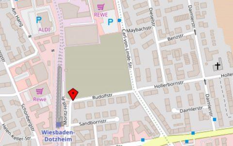 Es wird also noch dauern, bis in Dotzheim die Bagger rollen. Doch ein weiterer Schritt in die richtige Richtung uist getan. ©2018 Open Street map
