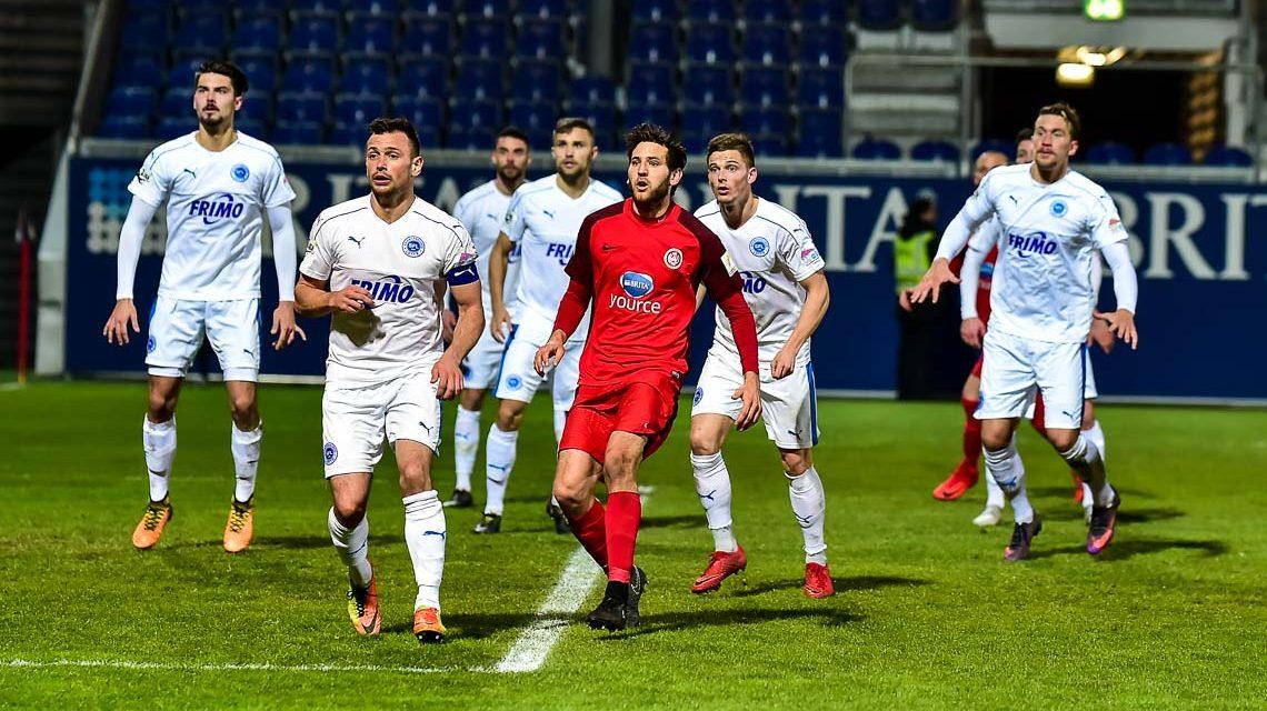 Archivbild: Der SV Wehen Wiesbaden gewinnt sein Haimspiel gegen die Spielfreunde Lotte im Schlussspurt. Foto: Volker Watschounek