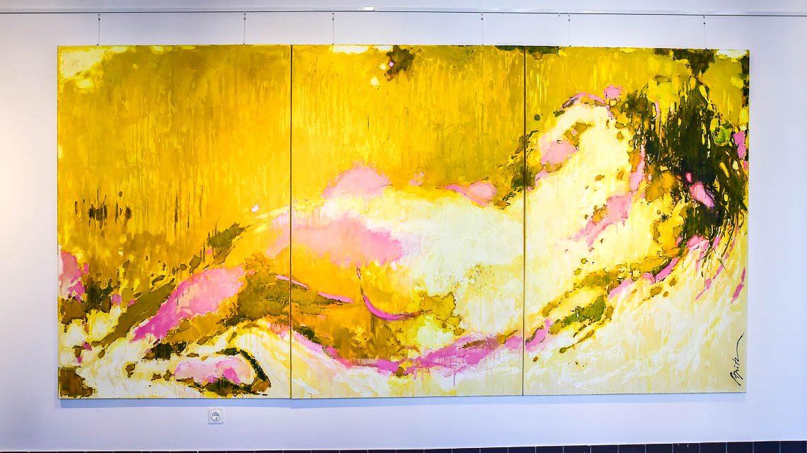 Michel Apitz zeigt eine Auswahl seine Werke im @2017 Volker Watschounek