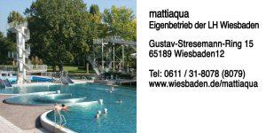 mattiaqua – Eigenbetrieb der LH Wiesbaden | Gustav-Stresemann-Ring 15 | 65189 Wiesbaden | Telefon: 0611 31-8078