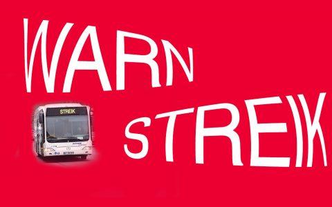 Busfahrer und Busfaherinnen streiken wieder. ©2018 Volker Watschounek