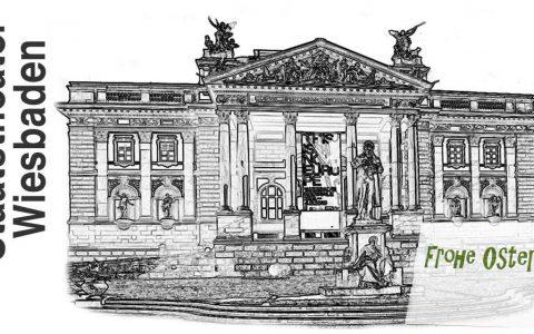 as Hessische Staatstheater Wiesbaden bietet den Besucherinnen und Besuchern zu Ostern »Überraschungen im Theater-Osterei« an. ©2017 Volker Watschounek