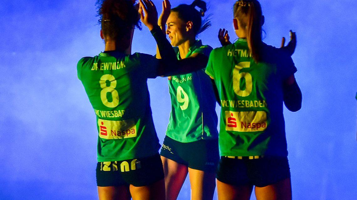 Der VC Wiesbaden gewinnt gegen Ladies in Black Aachen