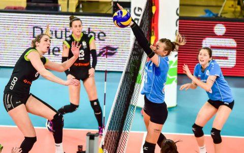 Archivbild, erstes Playoff-Viertelfinale VCW - Aachen.