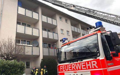 Kellerbrand in einer Wohnanlage der GWW in der Platter Straße. ©2018 112 / Sebastian Stenzel