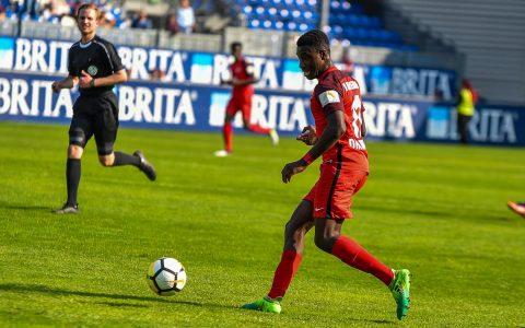 3. Liga | 33. Spieltag | Preußen Münster - SV Wehen Wiesbaden | 1:0 – Archivbild: Agyemang Diawusie