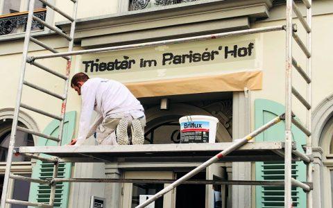 Ein Pariser Hoftheater, jetzt offiziell und deutlich: Theater im Pariser Hof. ©2018 TiPH