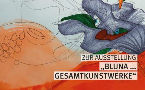 """Bluna – Kunstwerke der Künstlerinnen und Künstler des """"offenen Ateliers"""" der EVIM. ©2018 Stadt Wiesbaden"""