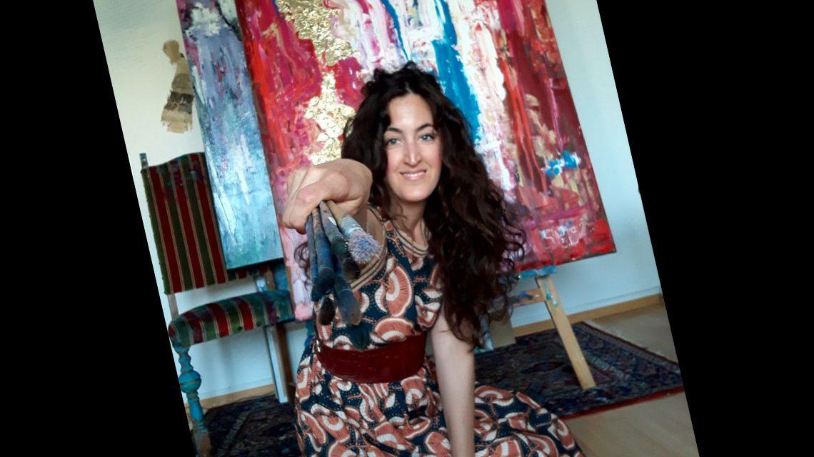 Shabnam Millerin ihrem Atelier. ©2018 Privat