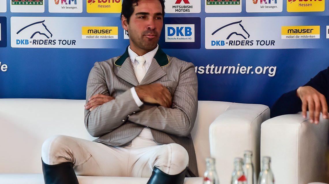Francisco José Mesquita Musa nach der Siegerehrung bei der Presskonferenz im Gespräch mit Kim Kreling. ©2018 Volker Watschounek