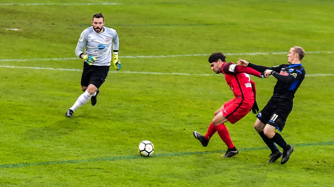 Archivbild: 18. Spieltag, 3. Liga, 2017.2018 | SV Wehen Wiesbaden : SCV Paderborn 07 | 4:1 ©2017 Volker Watschounek