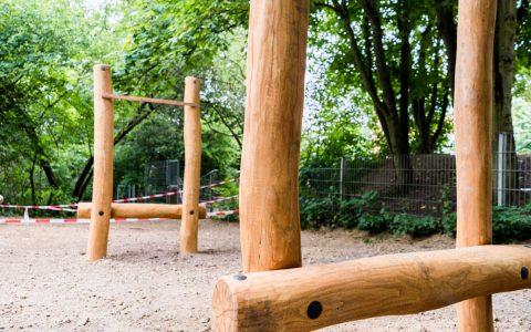 Balancier-Labyrinth auf dem Schulhof der Grundschule in der Karl-Arnold-Straße. ©2018 Annika List