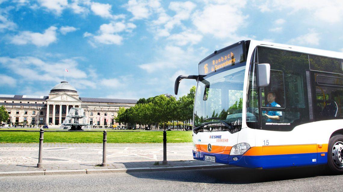 ESWE Verkehr und Umleitungen von Busse, Linien. ©29018 ESWE Verkehr
