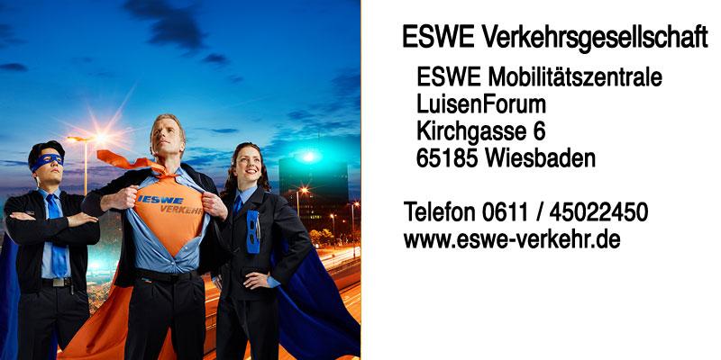 Kontakt zu ESWE Verklehr – LuisenForum, Kirchgasse 6, 65185 Wiesbaden Telefon 0611/341 547-0