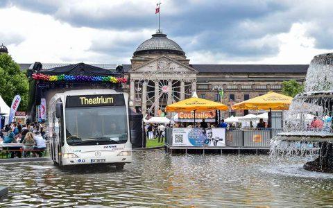 Veranstaltungsticket, Sicher und entspannt zum Wilhelmstraßenfest, ähm, Theatrium. ©2018 Volker Watschounek