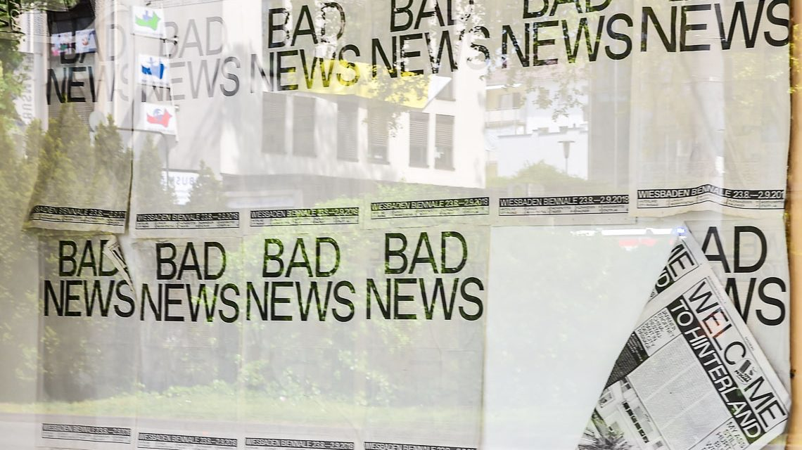 Bad News | Wiesbaden Biennale 2018 | 23. August bis zum 2. September 2018 ©2018 Volker Watschounek