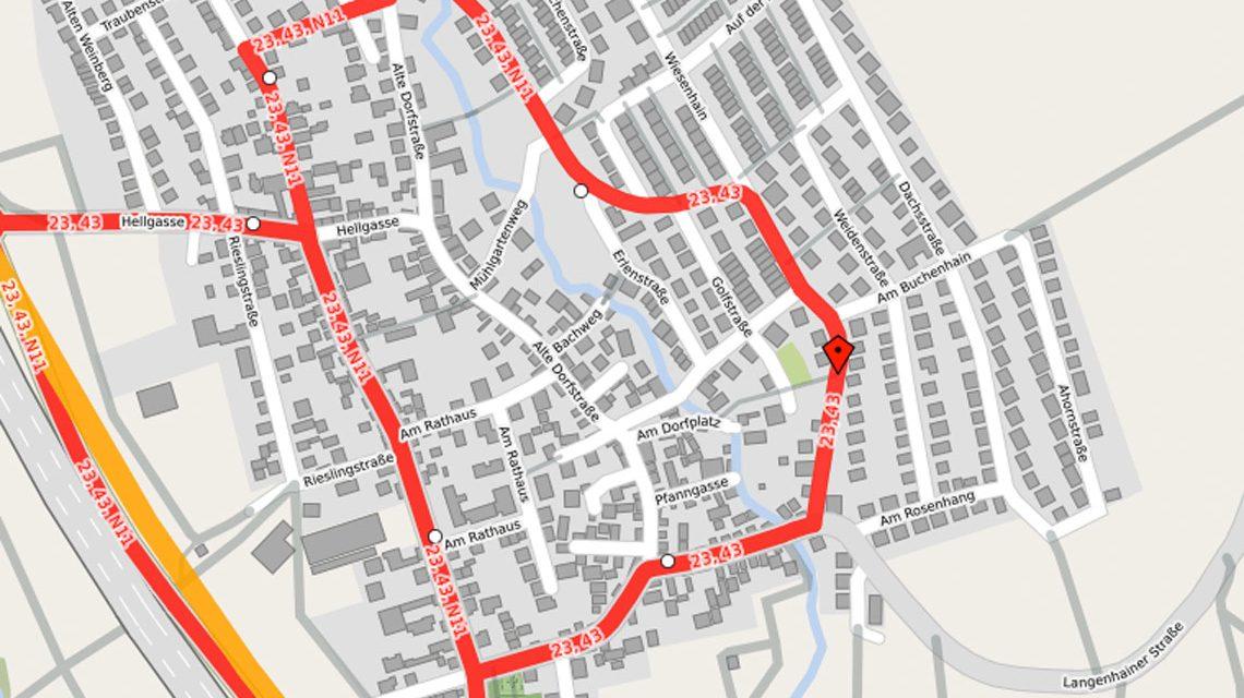 Klingenbachstraße in Breckenheim wird saniert. ©2018 OpnStreetMap