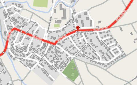 Soonwaldstraße nd Landwehrstraße –die Linien 15, 48 und die Schulbusse werden umgeleitet. ©2018 OpenStreet