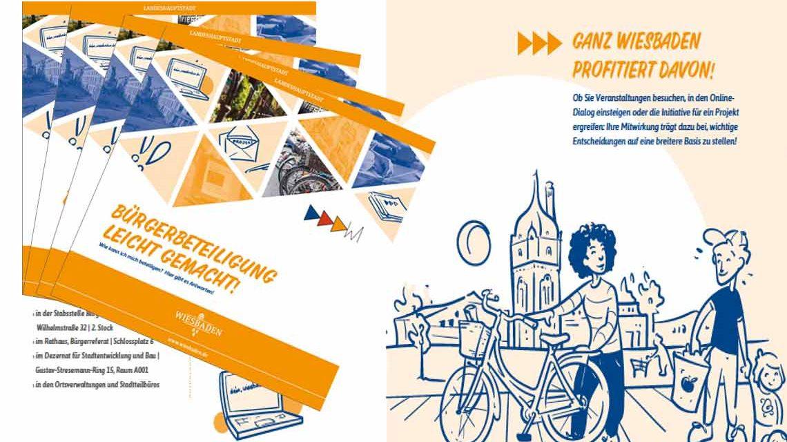 """Neue Broschuere """"Bürgerbeteiligung leicht gemacht"""" ist ab sofort hier herunterzuladen. ©2018 Landeshauptstadt Wiesbaden"""