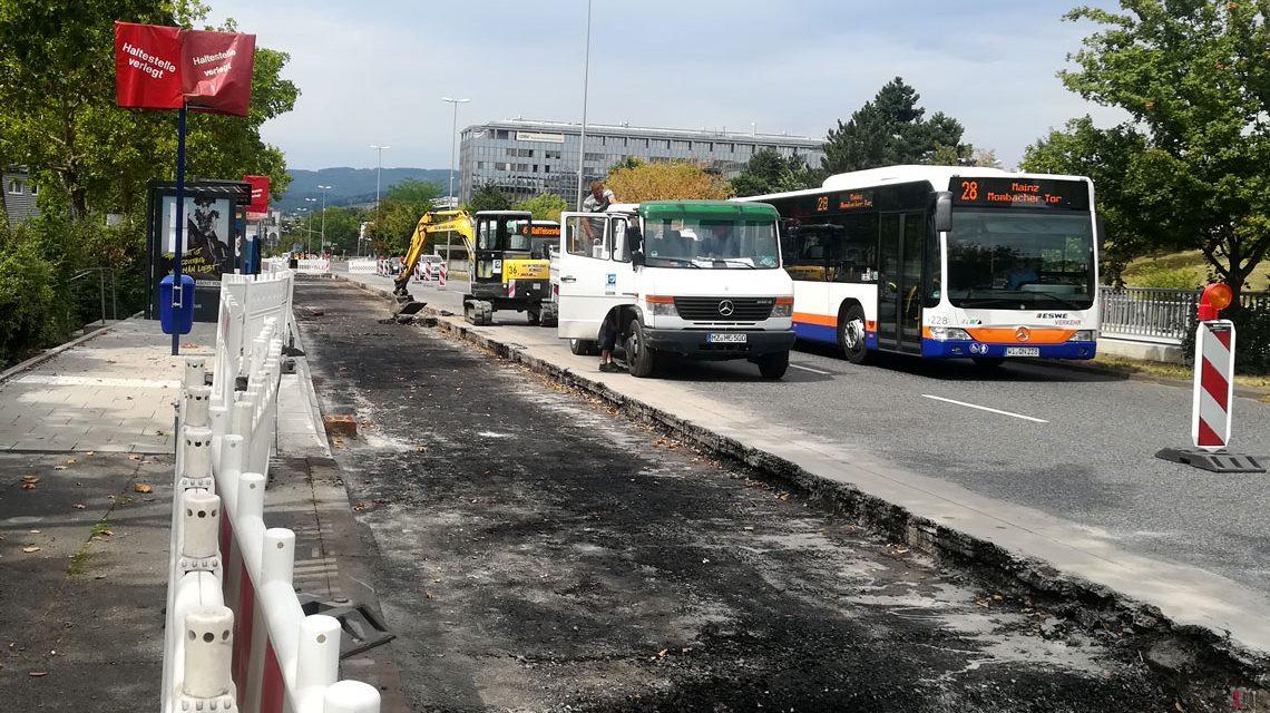 Haltestellenausbau in Wiesbaden: 15 Bushaltestellen werden benutzerfreundlicher. ©2018 Landeshauptstadt Wiesbaden, Tiefbau- und Vermessungsamt