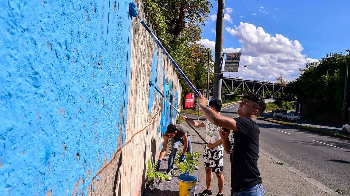 Stampfen, Klatschen und Mitmachen – We Wall Wiesbaden