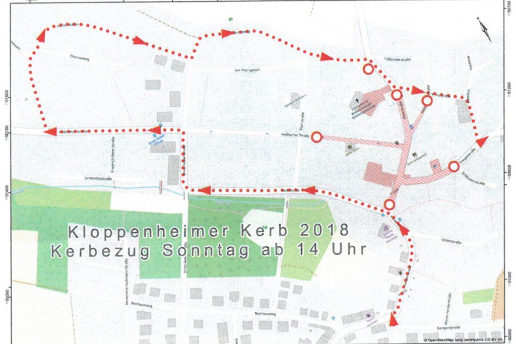 Kloppenheimer Kerbe, Umzug 2018. ©2018 Landfrauen Kloppenheim