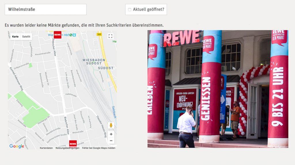 REWE Supermärkte in Wiesbaden - Adressen und Öffnungszeiten