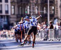Rund 20.000 Zuschauer verfolgten die Premiere des Biathlon-Spektakels durch Wiesbadens City. Dabeui zeigten sich die Winterstars ganz relaxt und Zuschauernah wie selten. Das Finale der Gerren... ©2018 Volker Watschounek