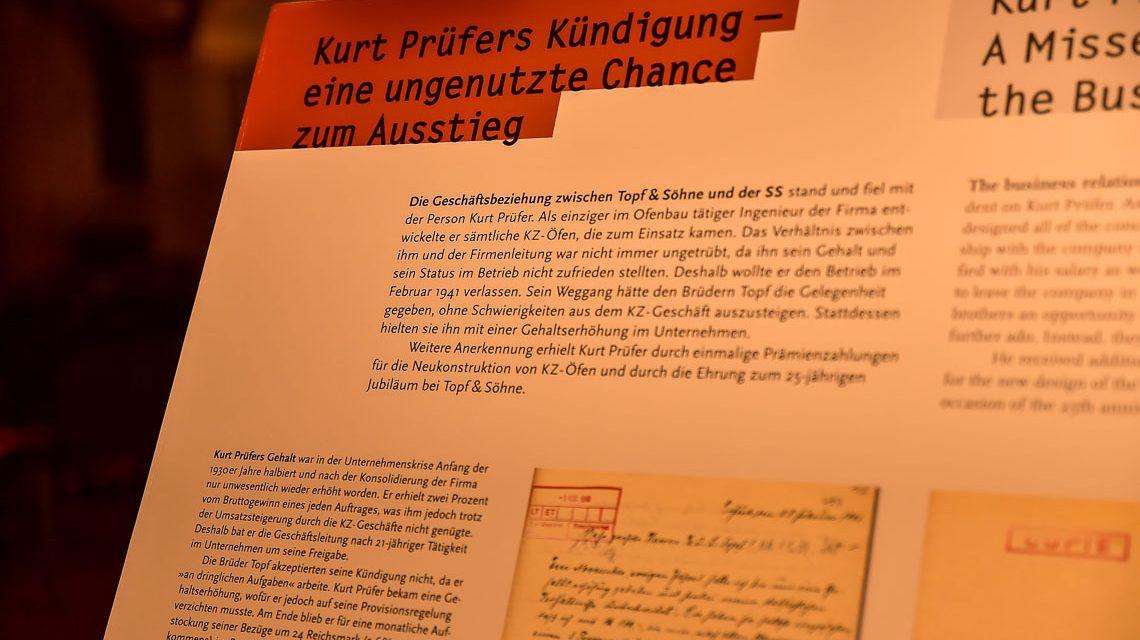 Die Geschäftsbezihung der Firma Topf & Söhne und der SS stand und fiel mit der Person Kurt Prüfer. ©2018 Volker Watschounek