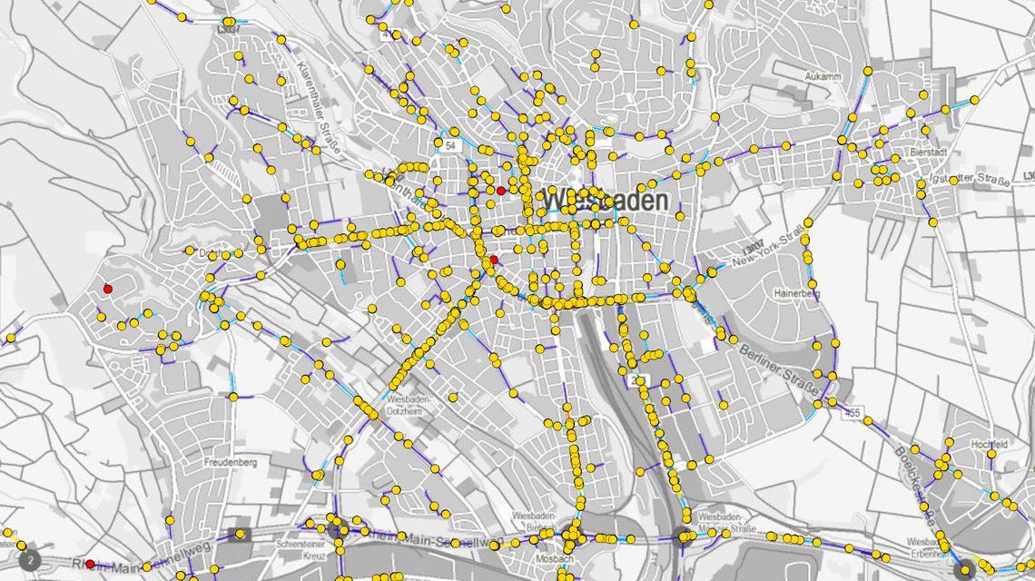 Wiesbaden Karte.Unfallatlas Wo Passierein In Wiesbaden Die Meisten Unfälle
