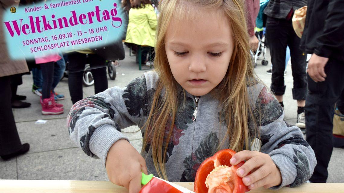 Weltkindertagfsfest auf dem Schlossplatz. ©2018 Deutsches Kinderhilfswerk, H. Lüders