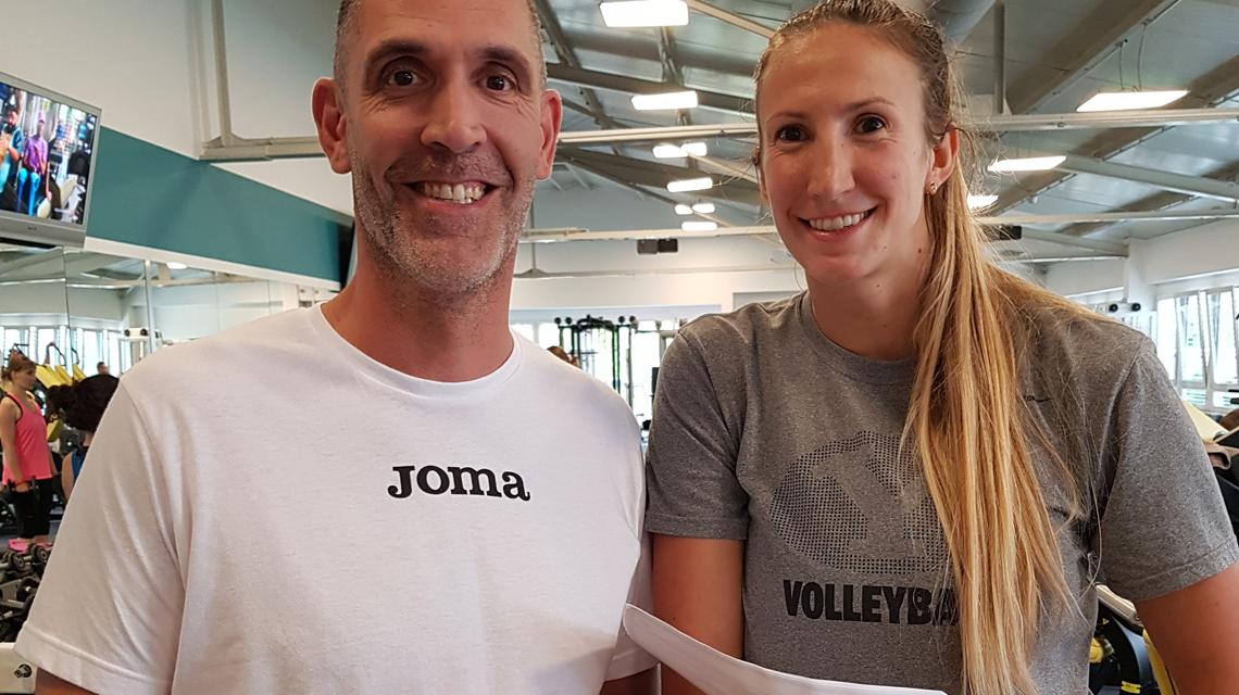 VCW Neuzugang Jennifer Hamson zusammen mit Co-Trainer Christian Sossenheimer. ©2018 VCW