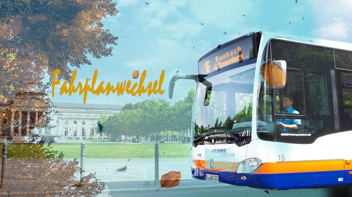 Fahrplanwechsel 2018/ 2019: Verbesserungen für ESWE Verkehr-Kunden ©2018 Volker Watschounek / ESWE Verkehr