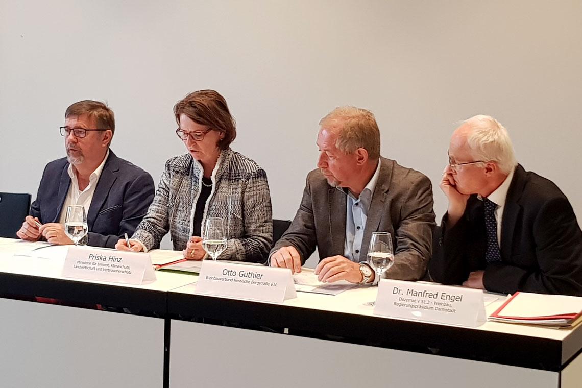 Dr. Manfred Enhel, Otto Guthier, Peter Seyffardt, Priska Hinz, ©2018 Staatskanzlei