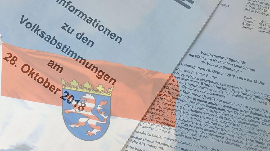 Landtagswahlen, wenn die Wahlbenachrichtigung verlegt wirde. ©2018 Volker Watschounek
