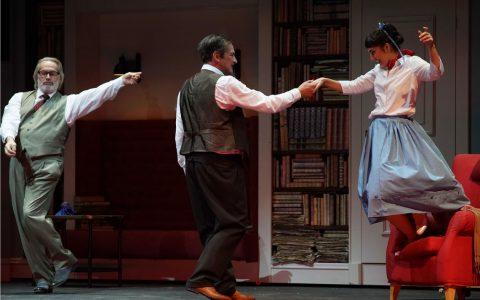 """Uwe Kraus, Uwe Eric Laufenberg und Maria Benserin dem Musical """"My fair Lady"""" ©2018 arl Moniks Forster"""