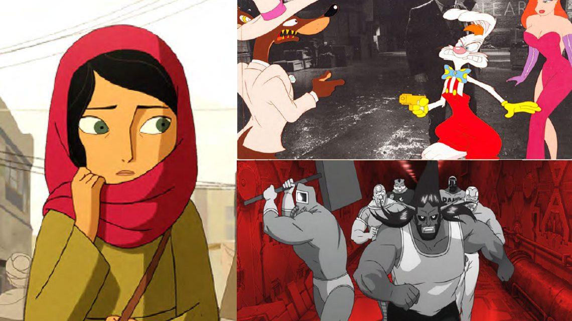 """Trickfilmfestival: Szenenbilder aus den Langfilmen """"The Breadwinner"""", """"Mutafukaz""""und """"Who framed Roger Rabit"""", bearbeitet von Volker Watschounek"""