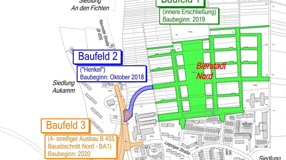 Das sind die Baufelder des Baugebiets Bierstadt-Nord.©2018 Stadt Wiesbaden