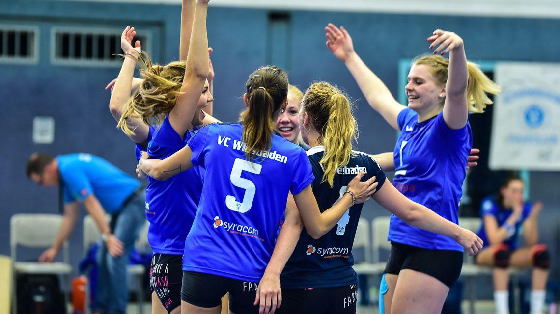 VCW II  Volleyball 2. Bundesliga Süd Frauen   Saison 2018.2019   1. Spieltag   VC Wiesbaden II - TV Holz   1:3