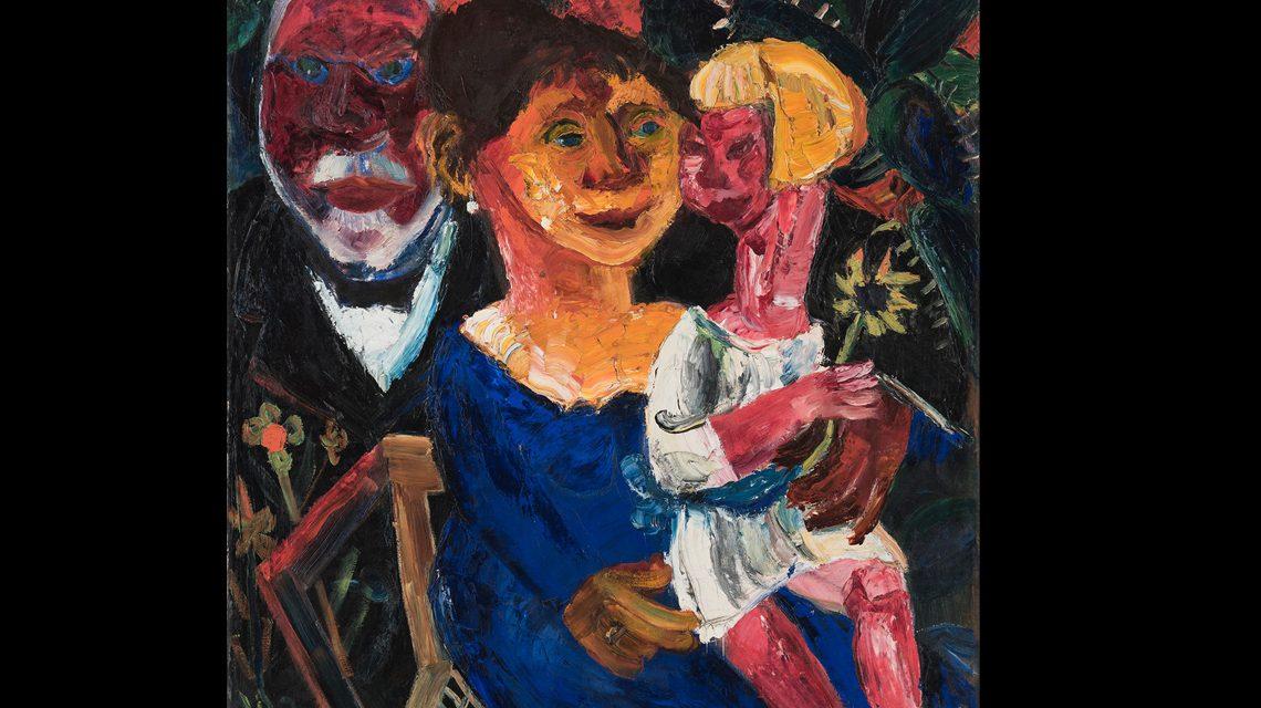 Walter Jacob, Die Familie Kirchhoff, 1920, Museum Wiesbaden. Foto: Bernd Fickert
