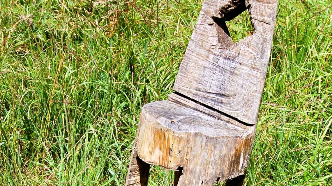 Ich weiß nicht, welcher Künstler sich hier im Mittenwald ausgetobt hat ...War wohl 'mal ein Baumstamm. ©2018 Flickr / Pixelteufel / CC-BY 2.0