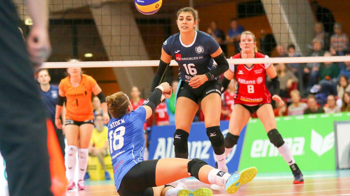 Pokalaus für Wiesbadens Volleyballerinnen