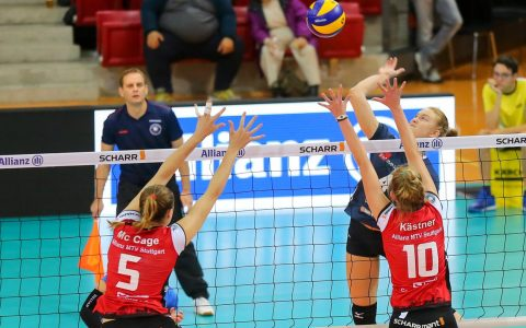 Volleyball Bundesliga Damen | 2018.2019 | 2. Sßieltag | Allianz MTV Stuttgart - VC Wiesbaden | 2:3